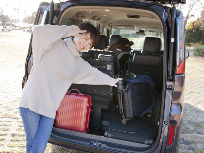 ▲スペースの作り方は、荷物の大きさや用途によってアレンジ自在