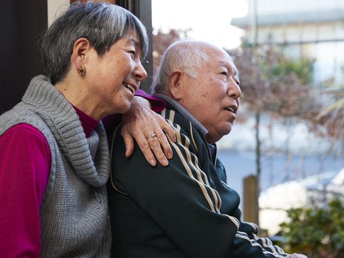 ▲まだまだお元気な梶原さん夫婦。ふたりには楽しみにしていることがあるという