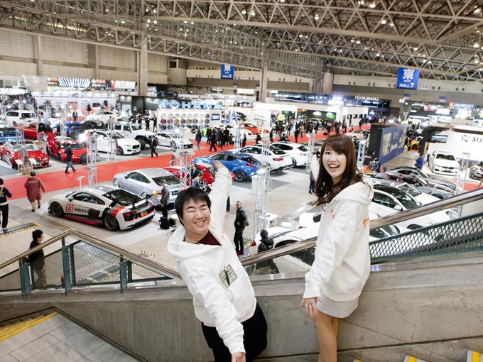 ▲東京オートサロン2018といえば、日本が誇る世界最大のカスタムカーイベント。チューニングやドレスアップされた車がたくさん展示されています