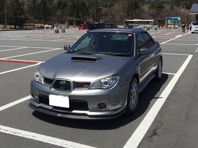 ▲1シリーズの前に乗っていたスバル インプレッサSTI。「軽くて速い」と伸治さんお気に入りの車だった(写真:ご本人提供)