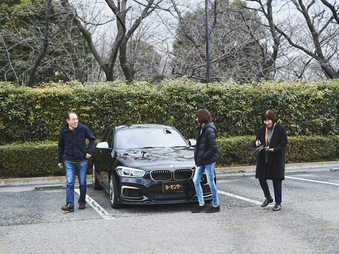 ▲紅葉や季節の花を見に行ったり、温泉旅行に行ったりと、毎週末のように乗っているという松岡家の愛車「BMW 1シリーズ」