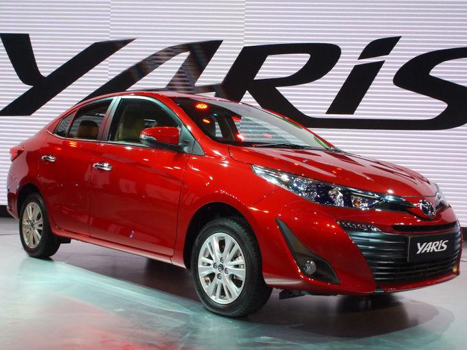 ▲ヤリスといえば、トヨタ ヴィッツの海外名となるが、東南アジアや中国では、まったく異なるモデルがヤリスを名乗っている。しかも展示車はセダンタイプ。ヤリスのセダンタイプは中国市場にしか存在せず、ASEAN諸国ではヴィオスと名乗っている。顔つきもびみょうに違うようだ