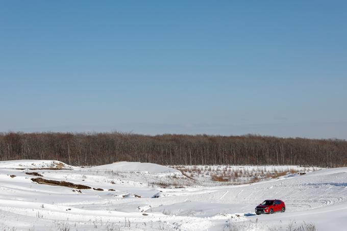 ▲今回の試乗コースはサーキットを利用して作られており、より様々なシチュエーションで試すことができた
