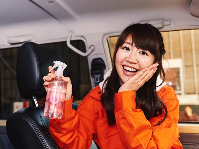 ▲女性誌に、いい匂いの女性はモテると書いてあったので、芳香スプレーをこれでもかとシュッシュしておきました