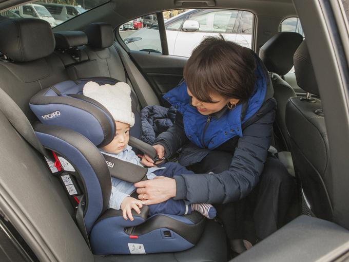 ▲チャイルドシートにも慣れて、最近はドライブ中はとってもいい子。暖かくなったら、いろんなところに行こうね