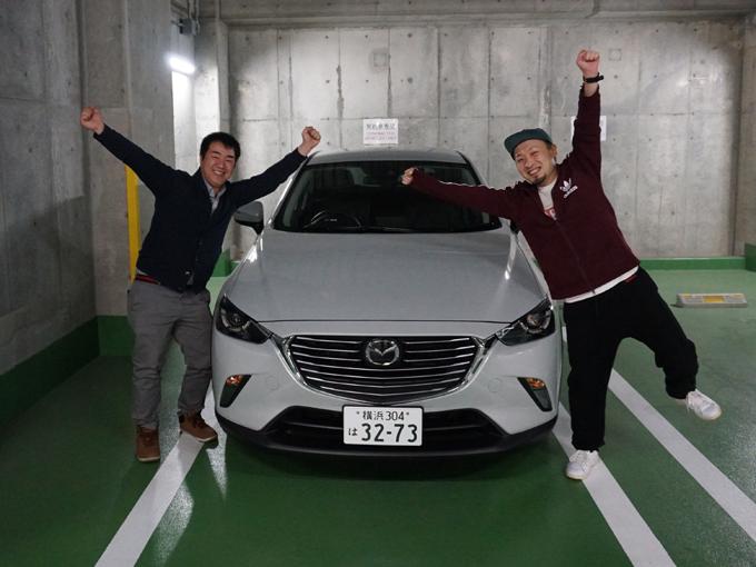 ▲マツダ CX-3のガソリンモデルに乗り、一路広島へと向かいます