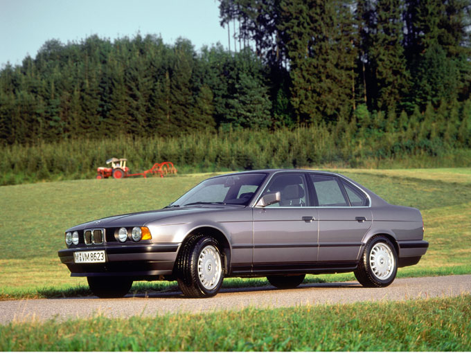 ▲バブル真っ只中に登場したE34型 BMW 5シリーズ