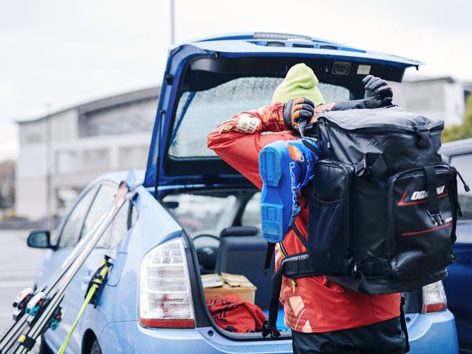 ▲スキーに行くときはとにかく大荷物!