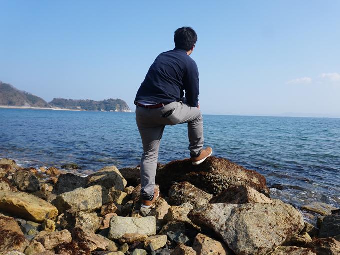 ▲お腹を満たし、お店の人に教えてもらった大崎下島の御手洗へ。海がキレイ!