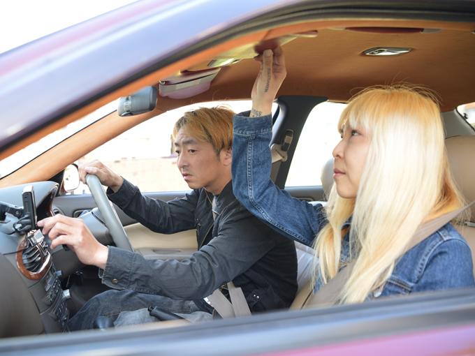 ▲車内で流すBGMは、互いに好きなロックのアルバムを交代で聴くのが夫婦のルールなのだそう