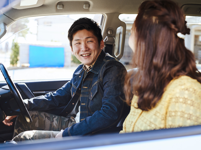▲出かけるときの運転担当はもっぱら佐藤さん