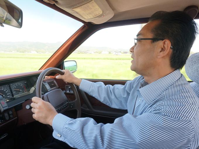 ▲試乗もさせてもらい乗り心地も確認。今回は上野社長に運転してもらいましたが、車検が残っている車なら、お客さんに運転してもらうとのことです