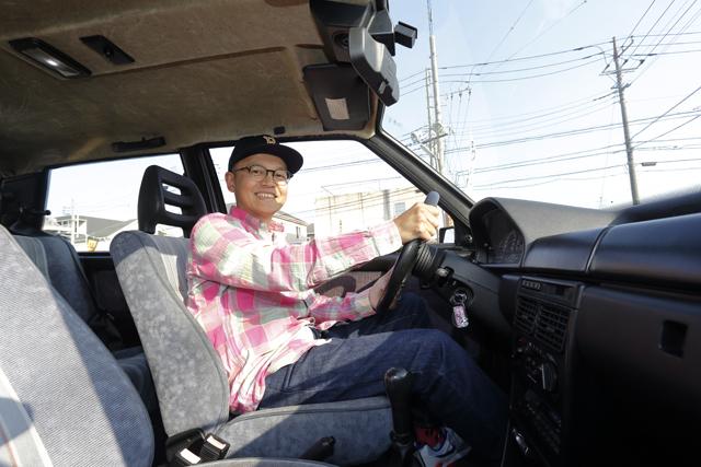▲運転席に座るだけで自分が所有して毎日楽しんでいる光景が浮かぶ、とBoseさん