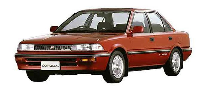 ▲カローラもツインカム4バルブというスポーツカーの特許のような高性能エンジンを搭載したグレードが存在した