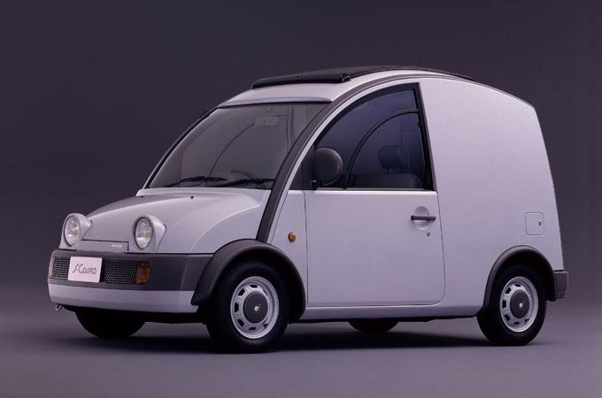 ▲「パイクカー・プロジェクト」立ち上げにより、1989年に誕生した日産 エスカルゴ