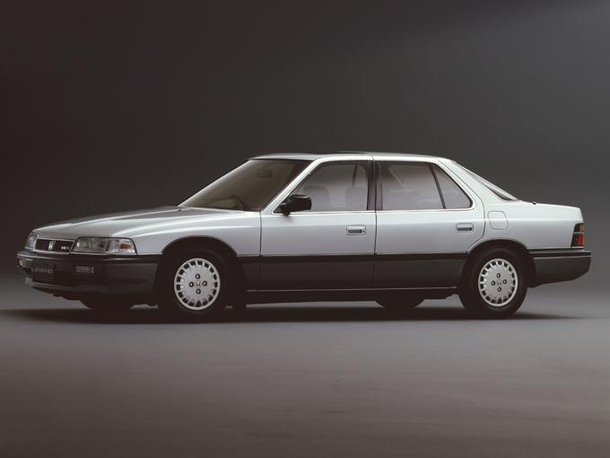 ▲初代レジェンドは1985年に登場した、当時のホンダとしては初の3ナンバーモデルだ
