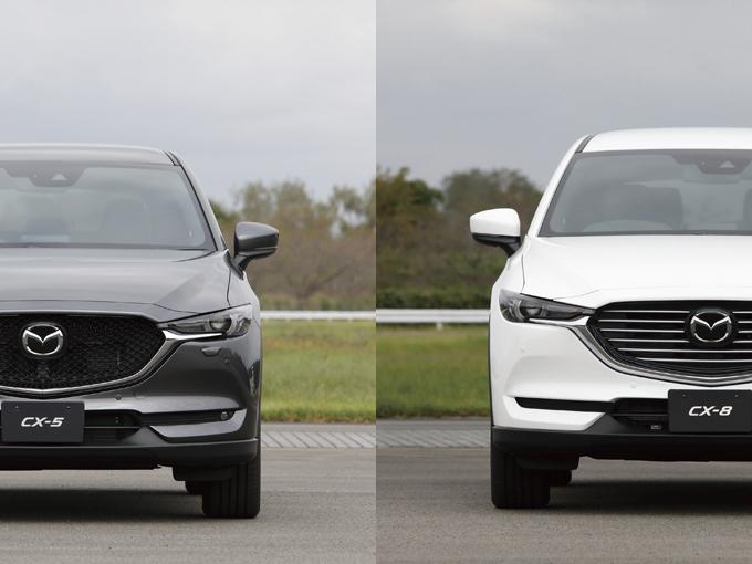 商品改良で新たなパワートレインを手に入れたCX-5&CX-8は、どんな走りを見せてくれるのか?
