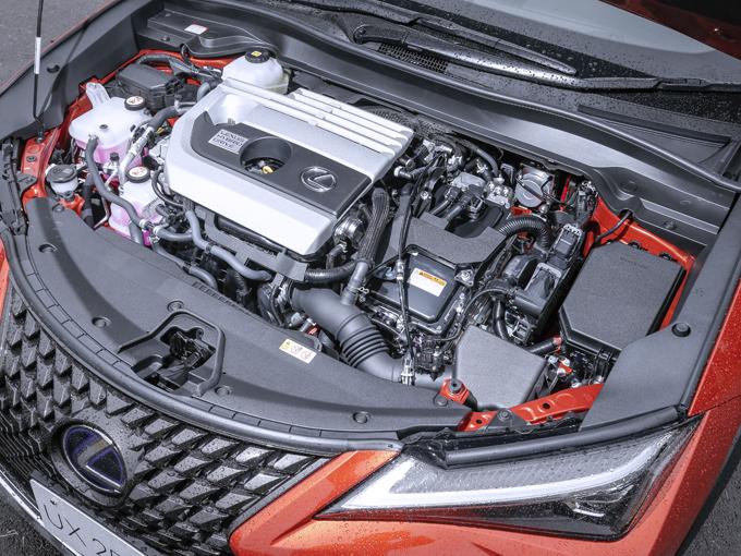 ▲UX 250hのエンジン