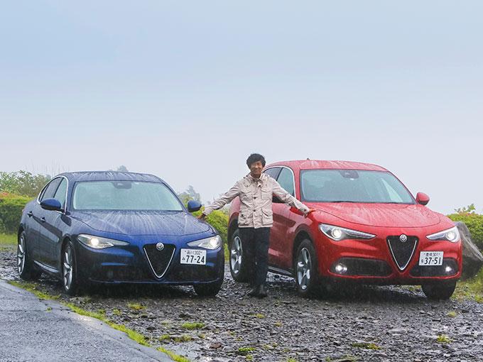 ▲今回試乗したのは、2019年4月に国内販売が開始されたアルファロメオのディーゼル搭載車、ジュリア 2.2 ターボ ディーゼル スーパー、ステルヴィオ 2.2 ターボ ディーゼル Q4 4WD。自動車テクノロジーライターの松本英雄氏による公道試乗の模様をレポートする。かつてない興奮とパフォーマンスを実現する、ディーゼルエンジンを搭載したジュリアとステルヴィオ