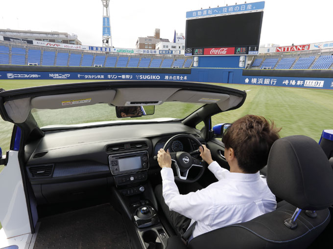 史上初!? 横浜スタジアムで日産 リーフのリリーフカーに試乗してきた
