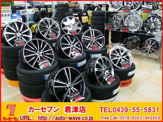 当店はカー用品も取り扱いしております。タイヤ、アルミもご要望に応じてお取り付けも可能です♪